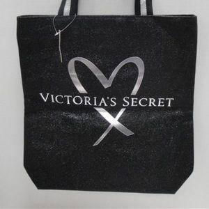 Victoria's Secret Silver Heart Shopper Tote, NWT